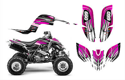 Yamaha Raptor 660 660R Graphics Decal Sticker Kit #1300 Hot Pink