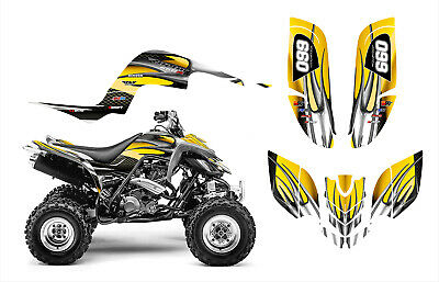 Yamaha Raptor 660 660R Graphics Decal Sticker Kit #1300 Yellow Tribal