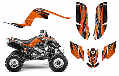 Yamaha Raptor 660 660R Custom Graphics Decal Sticker Kit #3333 Orange