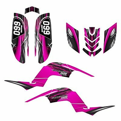 Raptor 660 660R Graphics Decal Sticker Kit #3333 Hot Pink