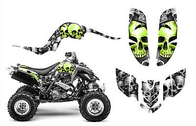 Yamaha Raptor 660 660R Custom Graphics Decal Sticker Kit #9800 Green Boneyard