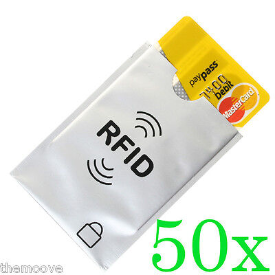 RFID Blocking Sleeve Secure Credit Debit Card ID Protector Anti Thief Scan Safe
