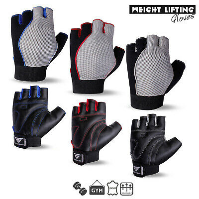 Weight Lifting Gloves RG Leather Gym Fitness Body Building Unisex Design Gloves