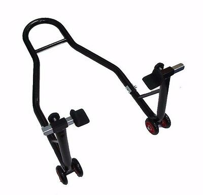 `motorcycle Motorbike Bike Rear Paddock Stand With Rubber Flats