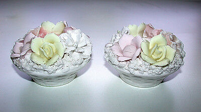 Beautiful Japanese Pair of Vintage Ardalt Lenwile China Verithin Candle Holders