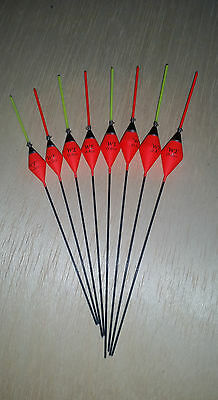 Pack of 5 High Quality Pole Fishing Floats WE334 Various Sizes Available