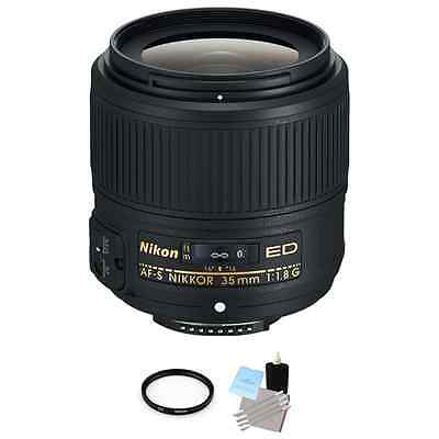 Nikon AF-S Nikkor 35mm f/1.8G ED Lens + UV Filter & Cleaning Kit