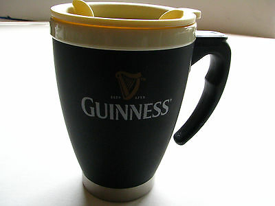 Guinness Coffee Mug / Beer Cup With Lid 10oz Great For On The Road