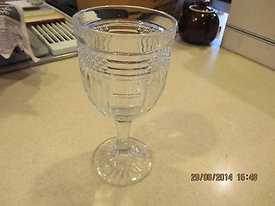 Libbey Rock Sharpe Radiant water goblet