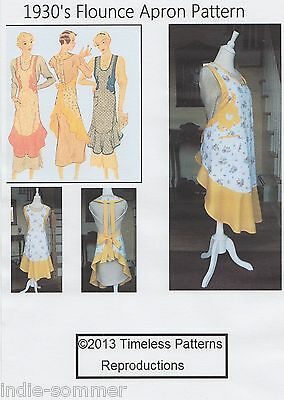 Vintage McCalls 1930's Fabric Apron Sewing Pattern W/ Flounce# 248  Copy!