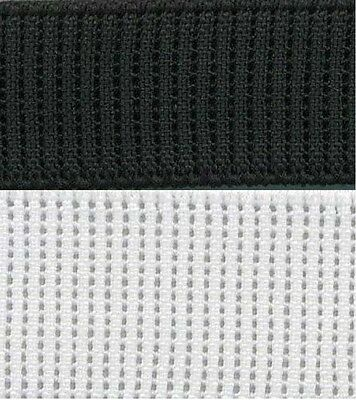 Ribbed Non Roll Elastic Remnants Black White 12Mm 20Mm 25Mm 32Mm Sewing Craft