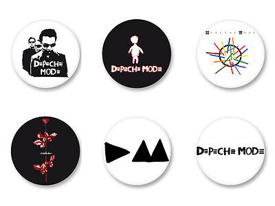 Lot Pack Badge Button Ø25mm Depeche Mode New Wawe UK Dave Gahan