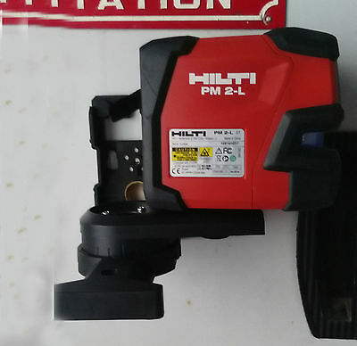 Hilti laser level PM 2-L Line laser  contains  L-shaped magnetic rotating base