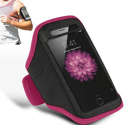 "Padded Armband iPhone 6Plus 5.5"" Running Secure Keyhole Fastening (Pink)"