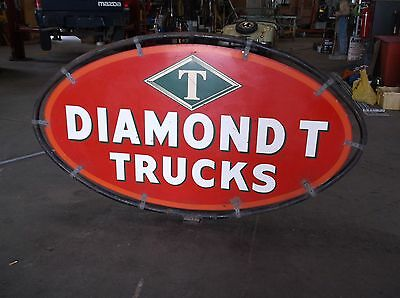 Diamond T truck sign.  Double sided