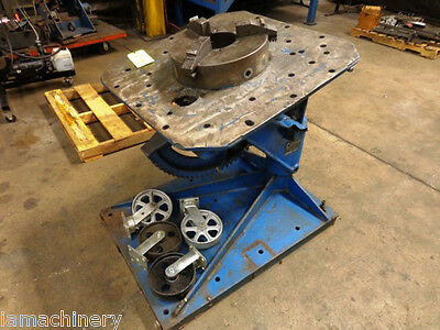 "2,500 LB x 30"" Table Cullen Power Welding Positioner Turning Table Fabricating"