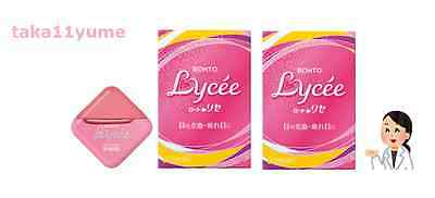 2 pcs ROHTO Lycee Japanese Eye Drop Eyedrops Free Airmail Shipping from Japan