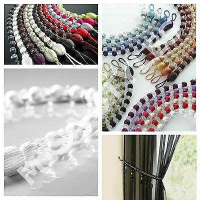Modern Crystal Effect Earl Beaded Rope Curtain Decorative Tie Back Hold Back