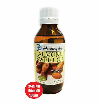 Certified Organic ALMOND SWEET OIL ~ Cold Pressed ~ PREMIUM GRADE ~ 100% Pure