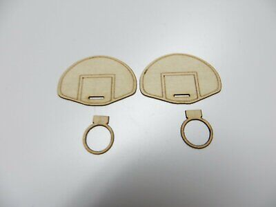 1/48 O scale Basketball Goal Laser Cut Detail set of 2