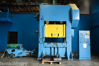 """200 Ton Federal Straight Side Double Crank Punch Press 60"""" x 42"""" Bed"""