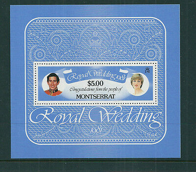 Montserrat 1981 Royal Wedding (Charles & Diana) mini sheet unmounted mint