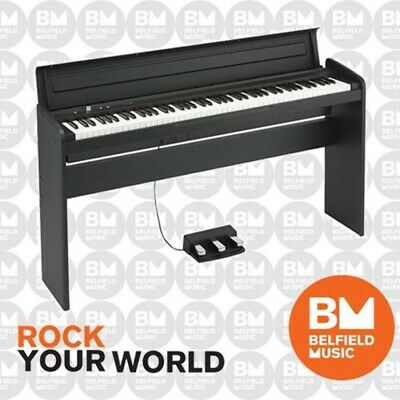 Korg LP-180 Digital Piano Slim Design Black with Stand & 3 Way Pedal Board LP180