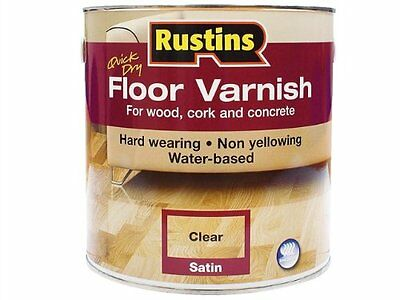 Rustins Quick Dry Water Based Floor Varnish Satin 5 Litre RUSAFCS5L
