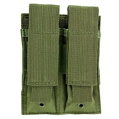 NcSTAR Double MOLLE PALS Pistol Magazine Pouch Holster for Tactical Vests OD GRN