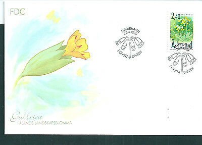 Aland 1999 Flower on unaddressed post office first day cover
