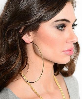NEW..Stunning bling glam XX large hoop earrings..10cm..Silver or Gold