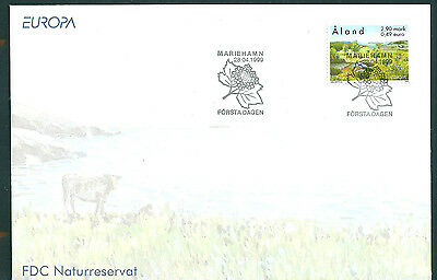 Aland 1999 Europa (Parks & Gardens) on unaddressed post office first day cover