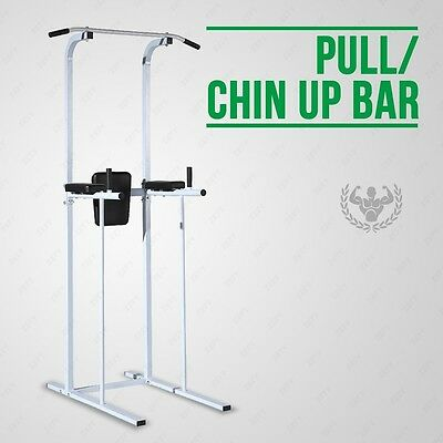 Fitness Power Tower Dip AB Pull/Chin Up Bar Station Home Gym Fitness Exercise