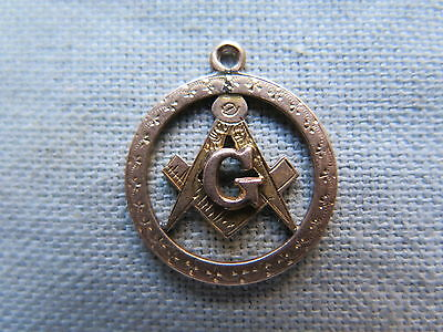 MASONIC LODGE 9ct ROSE GOLD FOB MEDAL BADGE c1905 SMALL but QUALITY WORKMANSHIP
