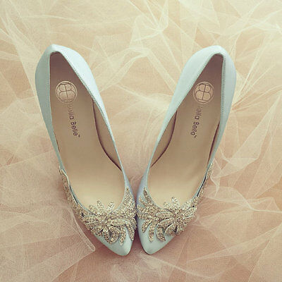 Something Blue Wedding Shoes Size 8