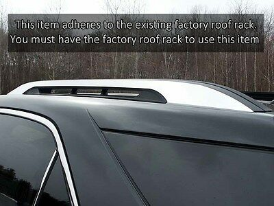 "Chrome Stainless Steel ""Stick-On"" Roof Rack Trim FITS Chevy Equinox GMC Terrain"
