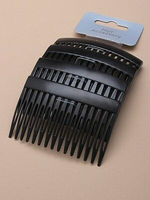 Black Hair Combs - Black Slides Side Combs Plastic Sidecomb