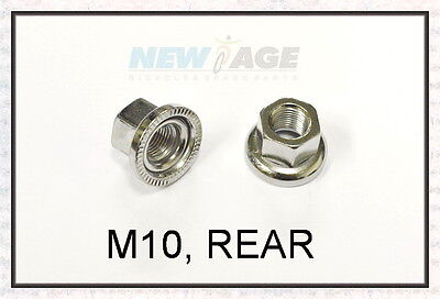 4Pair M10 Track Nuts Bicycle Wheel BMX Axle Vintage for Rear Hub Hardware