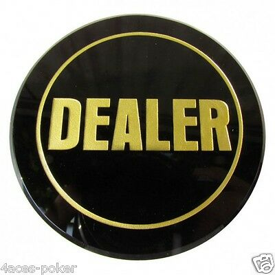 Poker Dealer button black big Dealerbutton Poker accessories-XL button
