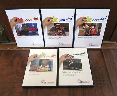 (5) VIPS Can Do! Video Library DVD's - Visually Impaired Pre-School Services-NEW