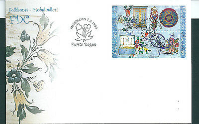 Aland 1999 Folk Art set on unaddressed post office first day cover