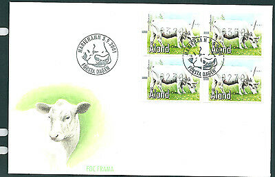 Aland 2001 Cattle frama set on unaddressed post office first day cover