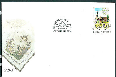Aland 2001 Foglo Church on unaddressed post office first day cover