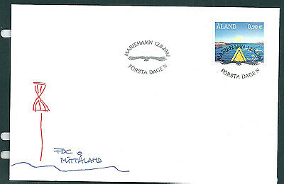 Aland 2002 Kayaking on unaddressed post office first day cover