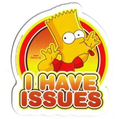 The Simpsons Bart - I Have Issues Car Magnet