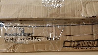"FOODHANDLER Saddle Pack Deli Bags8 1/2"" x 8 1/2"" with 1 1/2"" Foldback + 1"" Lip"