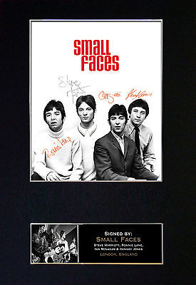 SMALL FACES Signed Mounted Autograph Photo Print (A4) No257
