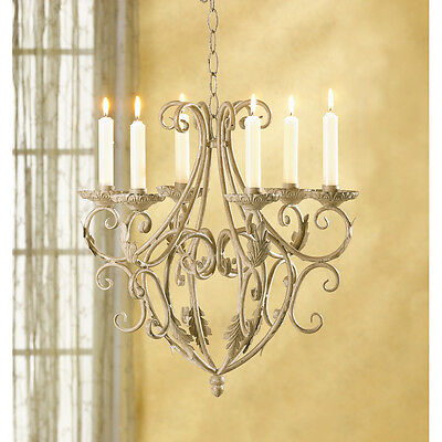 Royalty's Chandelier Elegant Shabby Chic Victorian Candle Holder Wrought Iron