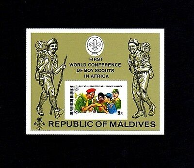 Maldives - 1973 - Boy Scouts - Conference - Imperf - Mint - Mnh S/sheet!