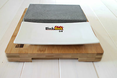 Hot Stone Cooking Steak Stone Black Rock Grill Set Lava Sizzling Plate HO-09